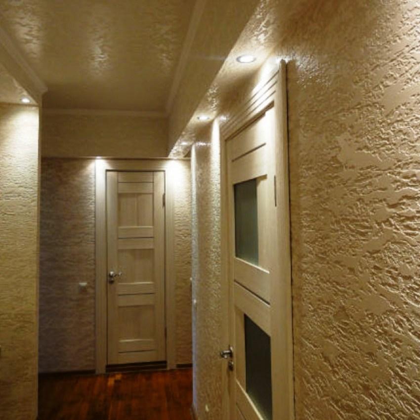 примерами фото из чего сделать стены в коридоре понравился