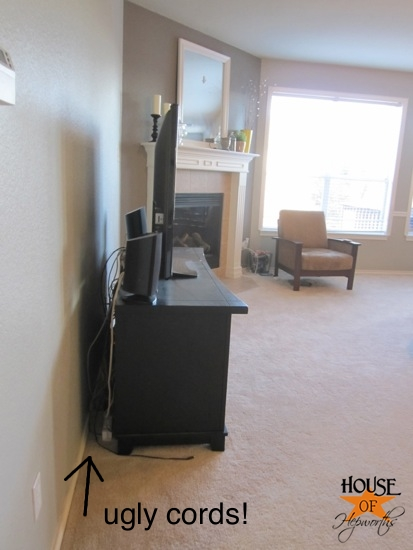 mount your tv and hide the cords
