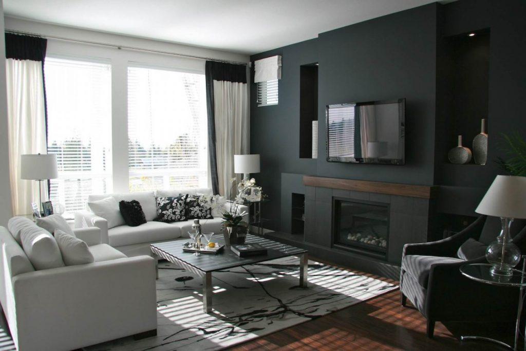 Дизайн комнаты в сером цвете фото гостиная