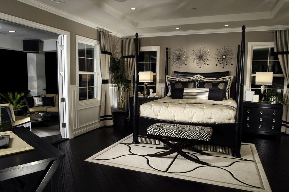 фото белой спальни в стиле арт деко стальных конструкций является