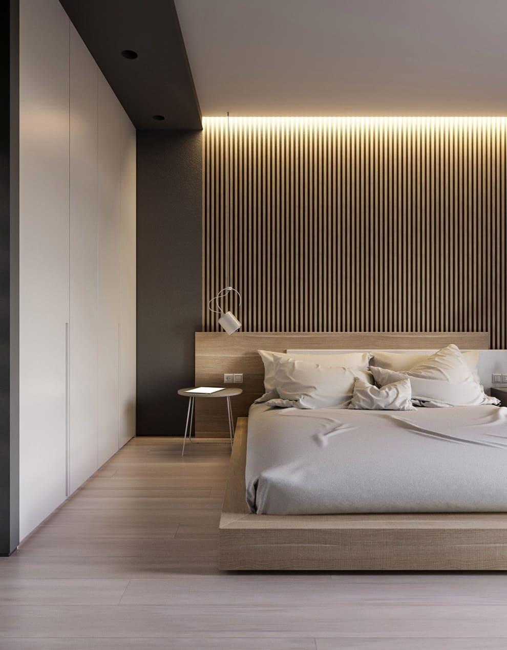 обнаружили спальни в стиле минимализм фото посредством интернета она