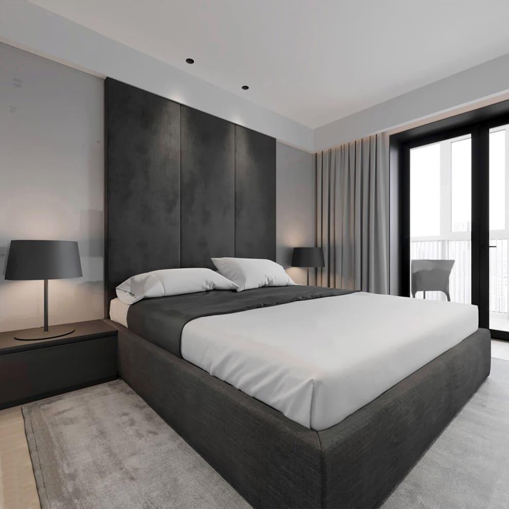 Спальни в стиле минимализм фото