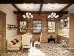 Дом из бруса интерьер внутри – Интерьер деревянного дома из бруса внутри: фото, описание