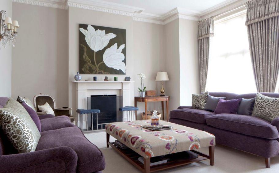 Фиолетовый диван в интерьере фото – Фиолетовый диван в интерьере +75 фото в гостиной и других комнатах