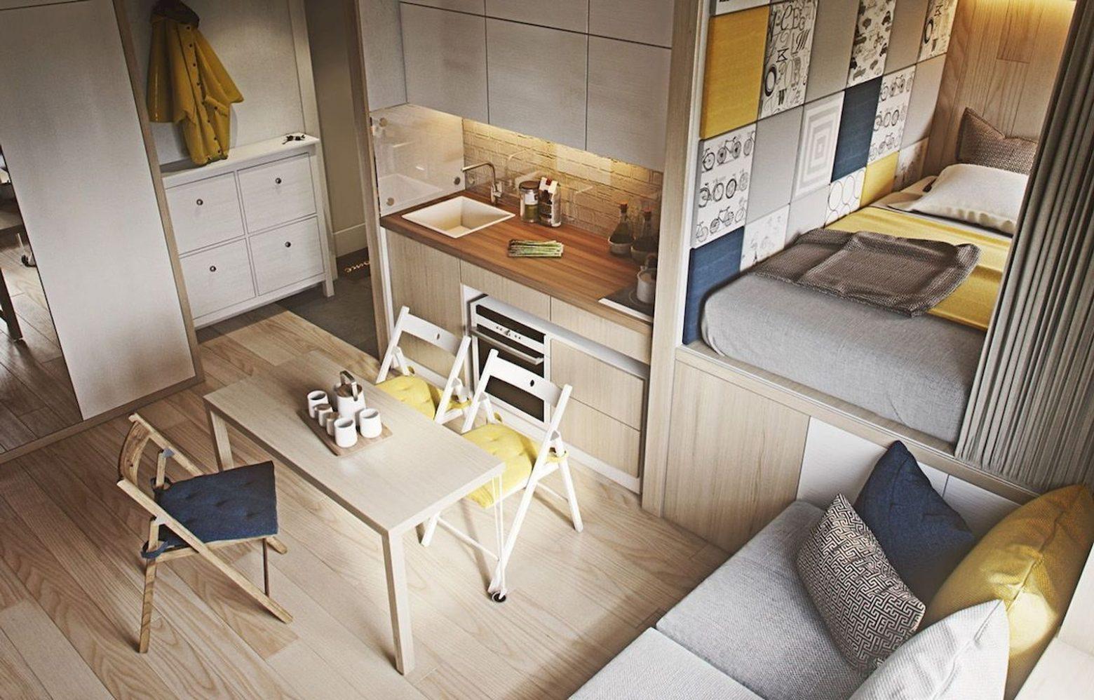 Интерьер квартиры студии 20 кв м – Дизайн квартиры-студии 20 кв. м. [60+ фото] планировки, зонирование