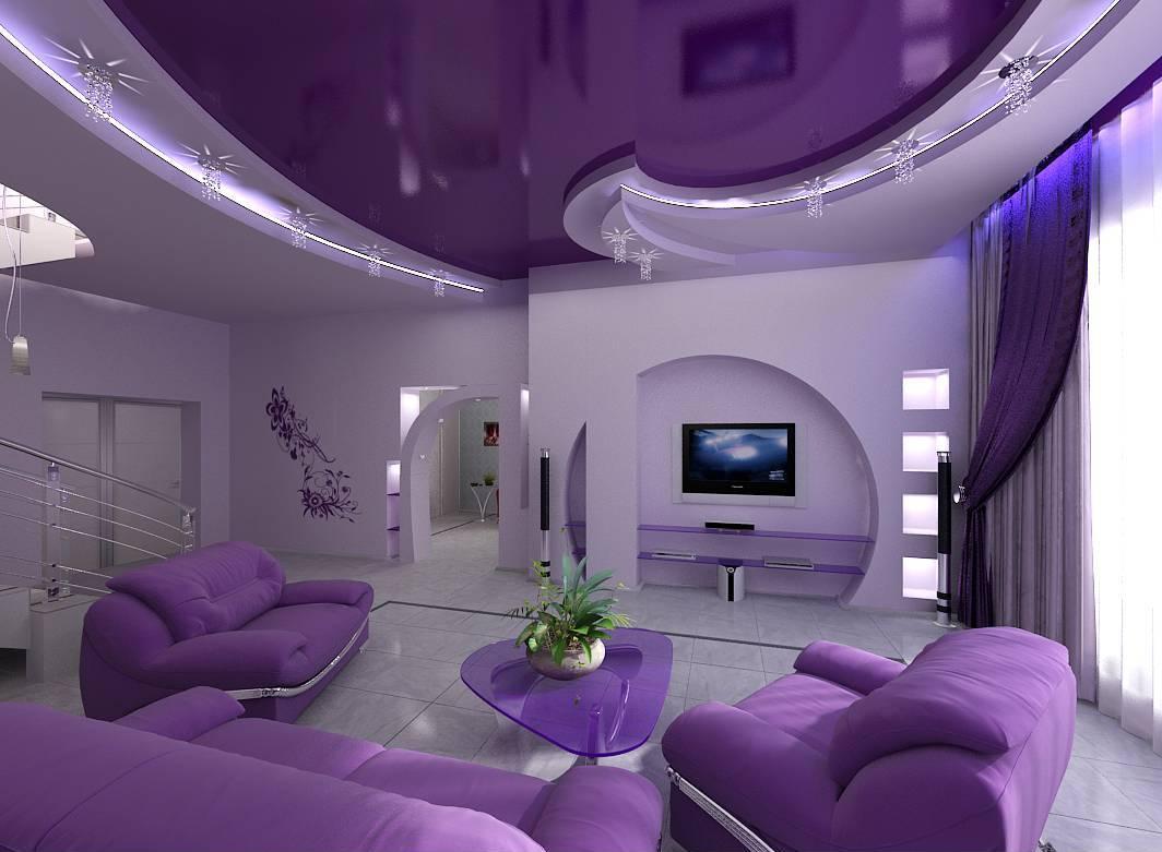 Темный натяжной потолок фото для гостиной – Натяжной потолок в гостиной — дизайн + 100 фото