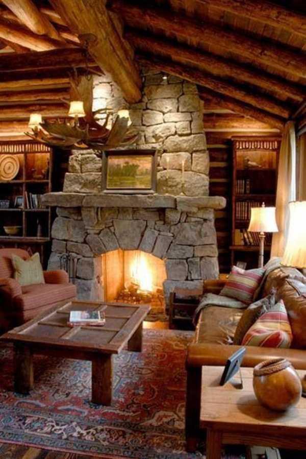 картинка уютного домика с камином была такая традиция